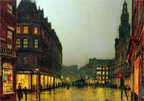 Boar Lane, Leeds - John Atkinson Grimshaw, 1881